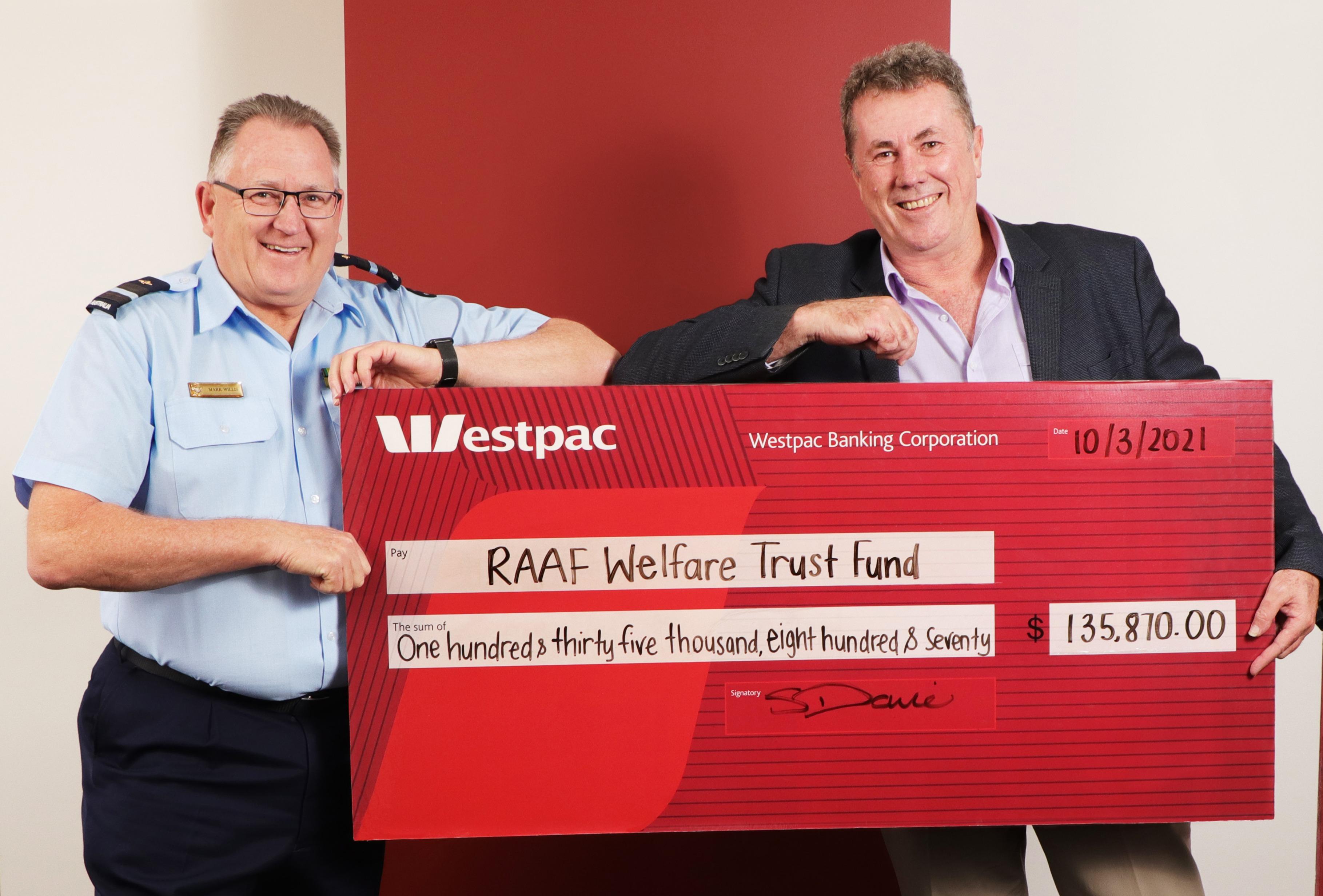 RAAF Welfare Trust Fund Cheque (1)
