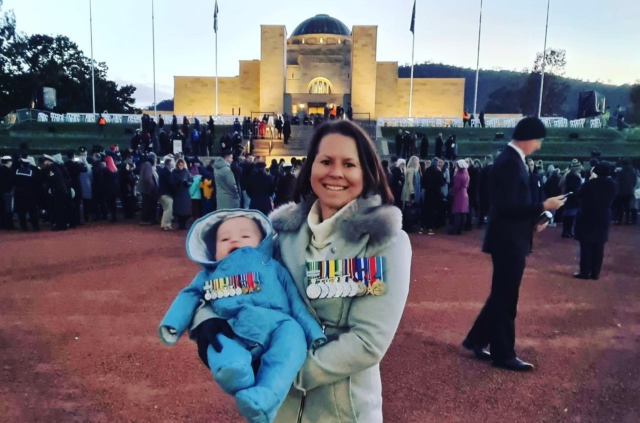 Medals Mounted for Mum and Bub - Bec Dyson