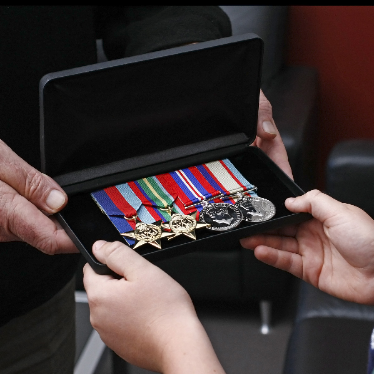 Medals in Case